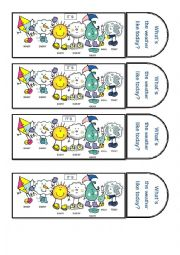 English Worksheet: Weather bookmarks