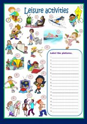 English Worksheet: LEISURE ACTIVITIES