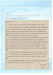Reading Comprehension (Letter)