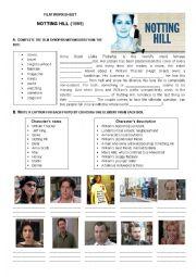 Notting Hill film worksheet
