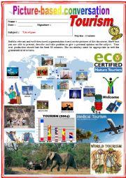 English Worksheet: Picture based conversation. Tourism. (Debating) 32/�