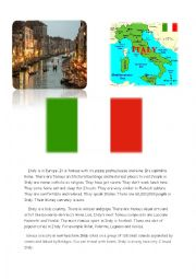 English Worksheet: ITALY