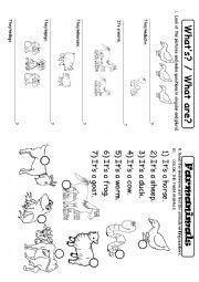 English Worksheet: Farm animals vocabulary
