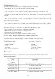 English Worksheet: Free and guided writing activities for Bac pupils