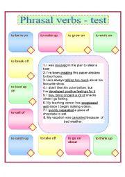 Phrasal verbs (test)