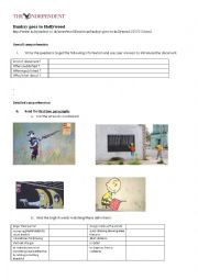 English Worksheet: Banksy goes to Hollywood