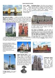 Famous landmarks of London + Quiz