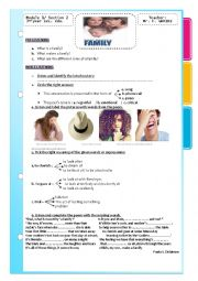 English Worksheet: Module 1 section 2  3rd form Tunisian sts