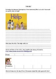English Worksheet: The Help and Jim Crow Laws