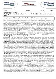 English Worksheet: Bac mid term test N�1