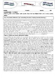 English Worksheet: Bac mid term test N°1