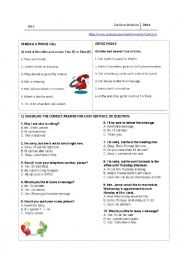 English Worksheet: Making a phone call