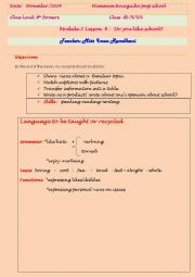 English Worksheet: Lesson plan