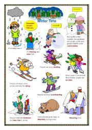 English Worksheet: Winter time.