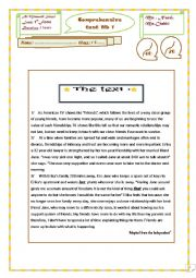 English Worksheet: end-term-test1:1st form