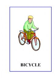 English Worksheet: Means of Transport flashcards.10 fully editable flashcards
