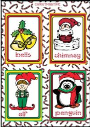 Christmas FLASHCARDS 1 - 5