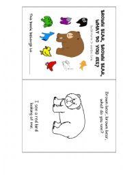 English Worksheet: Brown bear minibook