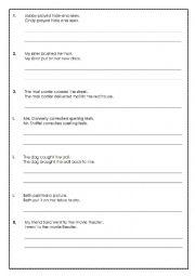 english worksheets conjunctions worksheets page 107. Black Bedroom Furniture Sets. Home Design Ideas