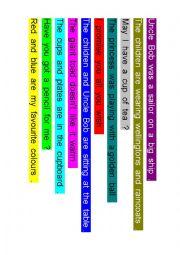 Word order sentences