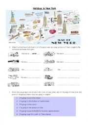English Worksheet: Holidays in New York
