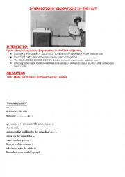 English Worksheet: interdictions obligations in the past