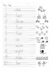Trace numbers - ESL worksheet by oman_jeep