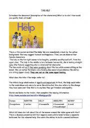 The Help and Jim Crow Laws part 2 - ESL worksheet by dlecuyer