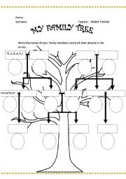 Family Tree for young learners
