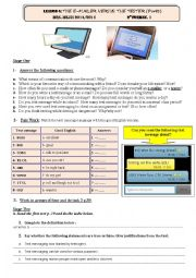 English Worksheet: Lesson 5 2nd Form: The e-mailer versus the texter Part 1