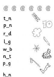 long and short vowels worksheet