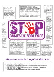 Abuse in Canada is Against the Law