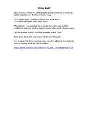 English Worksheet: Story Bud - Dublin Slang Terms