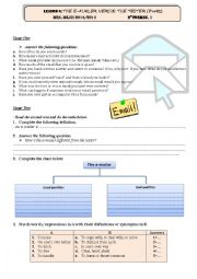English Worksheet: Lesson 5 2nd Form: The e-mailer versus the texter Part 2