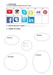 English Worksheet: Introducing social networks