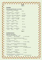 English worksheets: Grammar Test
