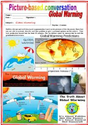 Picture based conversation.  Global warming. (Debating) 26/…