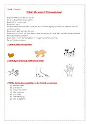 English Worksheet: module 4 section 2 What´s the matter?
