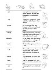 English Worksheet: Australian Animals