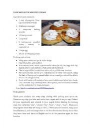 English Worksheet: Pancakes with cream