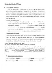 English Worksheet: a revision worksheet