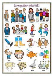 English Worksheet: Irregular plurals.
