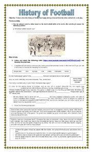 English Worksheet: History of Football / Soccer