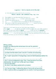 English Worksheet: Lesson 2 1st year: We�ve made it to the top