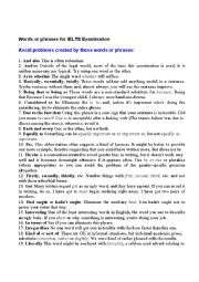 English Worksheet: Words for Ielts