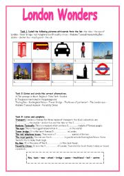 English Worksheet: London Wonders (8th form Module 1 Lesson 5) Listening