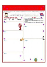 English worksheet: Passive Voice 3 Pages (Preview Problem!)