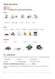English Worksheet: MOVERS YLE Unit 2 vocabulary and grammar worksheet