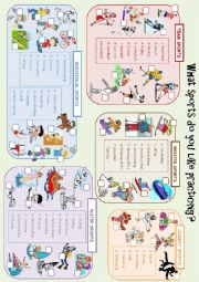 English Worksheet: Leisure Activities - Sports - Vocabulary Worksheet