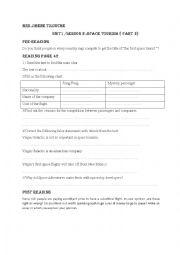 English Worksheet: unit 1/ lesson 2 space tourism ( part 2)